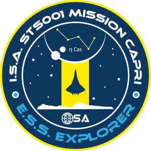 I.S.A. STS001 Mission Capri E.S.S. Explorer Missionslogo